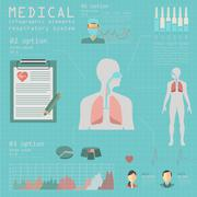 Stock Illustration of Medical and healthcare infographic, respiratory system infographics