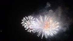 Fireworks in Alghero Stock Footage