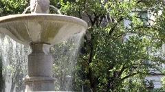 New York 181 Manhattan Central Park East; fountain in 5th Avenue 58th Street Stock Footage