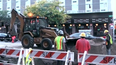 New York 005HD Manhattan road construction site in 10th avenue midtown Stock Footage