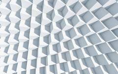 3d monochrome background with cubes. - stock illustration