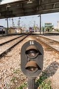 Railway Semaphore Near Haydarpasa Stock Photos