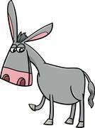 Donkey farm animal cartoon Stock Illustration