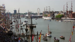 Top view of Sail Amsterdam 2015 Stock Footage