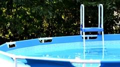 Swimming pool - stock footage