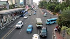 Time lapse of Jakarta traffic Stock Footage