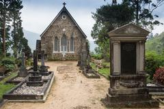 Gothic church in Connemara mountains - stock photo