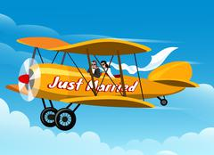 Just Married - stock illustration