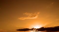 Beautiful sunset clouds. Stock Footage