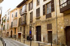 Palma de Mallorca old city Barrio Calatrava street Stock Photos