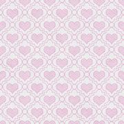 Pink and White Chevron Hearts Tile Pattern Repeat Background - stock illustration