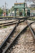 Railway Tracks Near Haydarpasa - stock photo