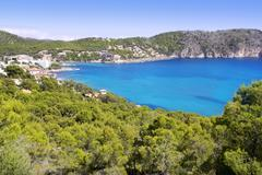 Andratx Camp de Mar in Mallorca Balearic Islands - stock photo