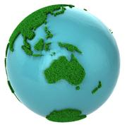 Stock Illustration of Globe of grass and water, Australia part