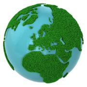 Globe of grass and water, Europe part Stock Illustration