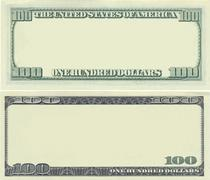 Clear 100 dollar banknote pattern Stock Illustration