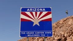 State border between Nevada and Arizona Stock Footage