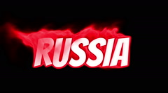 Stock Video Footage of russia. text on fire. word in fire. turbulence