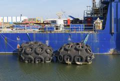 ship buffers - stock photo
