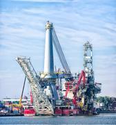heavy lift vessel - stock photo