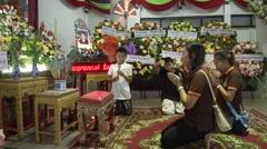 Bangkok Bombing Funeral  Stock Footage