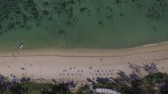 BEACH AND REEF FROM AVBOVE Stock Footage