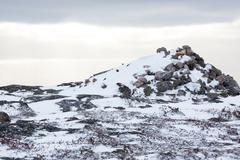 Rocky landscape and snow Kuvituskuvat