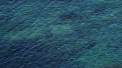 Sea Bed under Mediterranean Water Background - 25FPS PAL Stock Footage