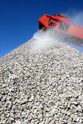 Buiding Stone and Conveyor Stock Photos