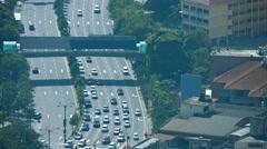 View from Kuala Lumpur Tower (Menara Kuala Lumpur) Stock Footage