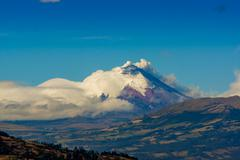 Cotopaxi volcano eruption in Ecuador, South America - stock photo