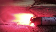 Safety Flare Burning Close Up Stock Footage