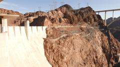 Hoover Dam with Mike O'Callaghan-Pat Tillman Memorial Bridge Stock Footage