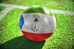 Stock Illustration of football ball with the national flag of equatorial guinea
