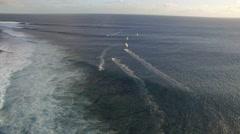 DRONE BIG WAVES KITESURF Stock Footage