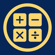 Calculator icon - stock illustration