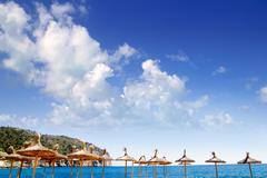 Camp de Mar in Andratx from Mallorca balearic island - stock photo
