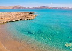 Alcudia in Mallorca la Victoria turquoise beach Stock Photos