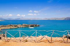 Alcudia in Mallorca la Victoria turquoise beach - stock photo