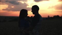 Couple in love in  the sun Arkistovideo