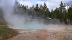 Fountain Paint Pot, Bacteria Mat Yellowstone National Park Stock Footage