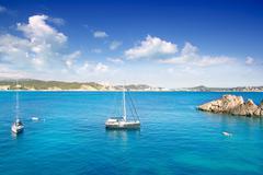 Cala Fornells Majorca in Mediterranean Mallorca Island - stock photo