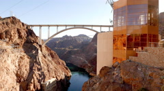 The new Hoover Dam bypass in Arizona Stock Footage