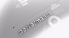 Performance growing chart, statistic, data, performance. Stock Footage
