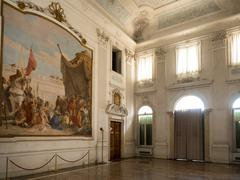 """VICENZA, ITALY - MAY 13: Hall of Honour with the fresco """"Alexander the Great  Stock Photos"""