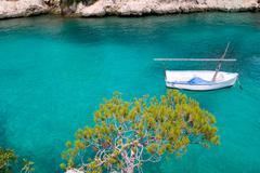 Calvia Cala Fornells turquoise mediterranean in Majorca Stock Photos