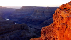 Evening shot of Grand Canyon Stock Footage
