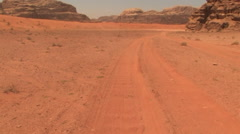 Riding in the Deserts in the Wadi Rum, Jordan - stock footage