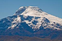 Breathtaking view of Cayambe volcano, Ecuador Stock Photos