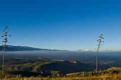 Beautiful scenic landscape of Ecuador's andean region - stock photo